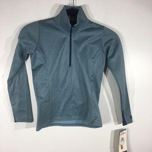 NWT Kerrits Check Fleece 1/2 Zipper Top